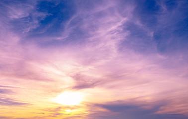 Beautiful sunset at  lake Ontario.