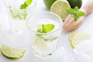 Lime mojito lemonade ice cold freshly made