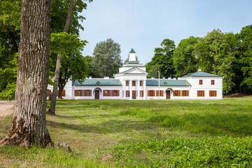 Belorussian tourist attraction -  Oginski Palace in Grodno region.