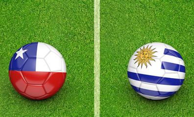 2015 soccer tournament, teams Chile vs Uruguay