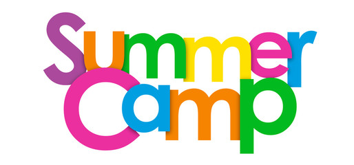 """SUMMER CAMP"" Multicoloured Vector Letters Icon"