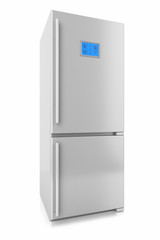 Two refrigerator isolated on a white background