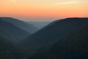 Fototapete - West Virginia Mountains in Autumn