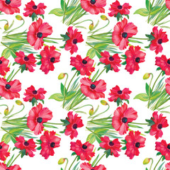Seamless pattern watercolor flowers, paper, textile, fabric, wrapper, wallpaper,vector