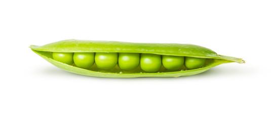 Opened pea pod green sugar