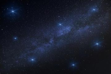 Vía Láctea con estrellas