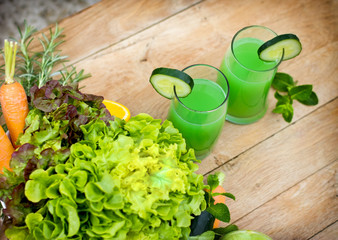 Healthy drink - green juice
