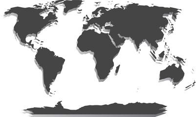 Obraz Pusta Mapa Świata - fototapety do salonu