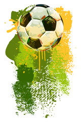Soccer ball Banner.
