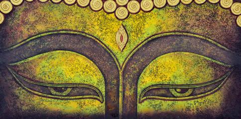 Wall Murals Buddha buddha face acrylic painting