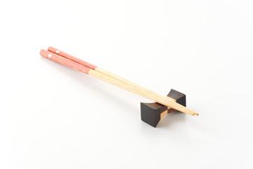 chopsticks isolated on white background