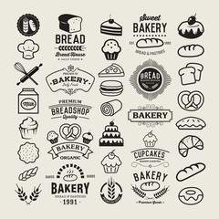 Bakery logotypes set.