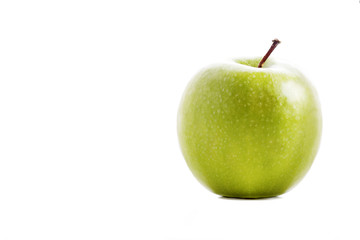Fresh Green Apple Isolated on White.