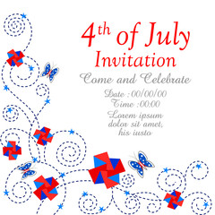 Fourth July Independence Day of America