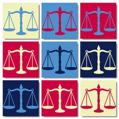 Balance de la justice ppop art