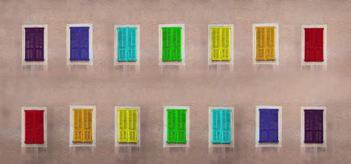 the rainbow shutters
