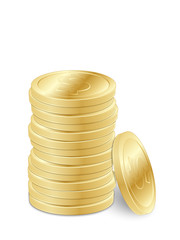 Gold dollar coins 2. Vector illustration