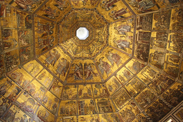 Mosaic ceiling at Florence Baptistery
