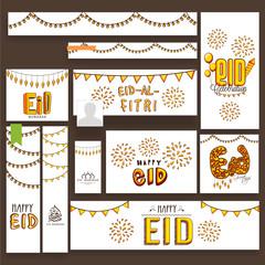 Social media post and header for Eid Mubarak.