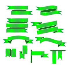 Ribbon vector green