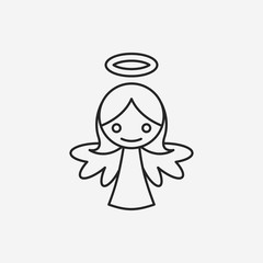 angel line icon