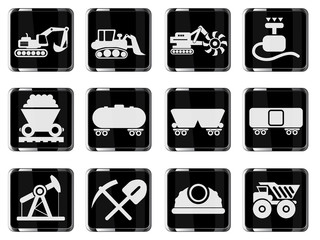 Symbols of Transportation & Construction Machine
