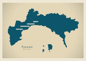 Modern Map - Panama Province PA