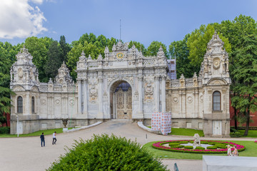 Istanbul, Turkey. North Gate Dolmabahce Palace