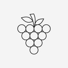 fruits grape line icon