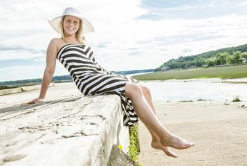 Portrait of a woman wearing a hat