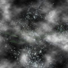 Mysterious clouds of dandelions in a distant galaxy