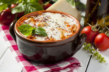 Lasagna in a pot
