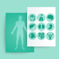 Template of medical banner.