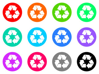 ecology vector flat icons set