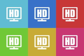 hd vector flat icons set