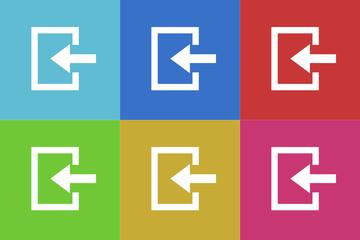 enter vector flat web icons set