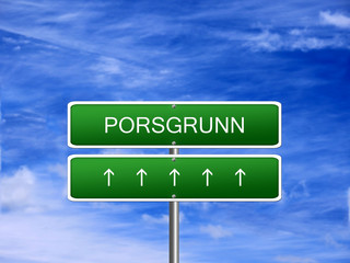Porsgrunn City Norway Sign