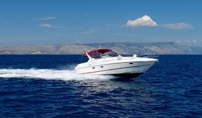 Foto op Canvas Water Motor sporten Motor speed boat