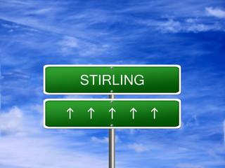 Stirling City Scotland Sign