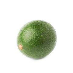 Single ripe avocado fruit isolated