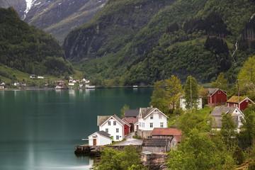 Stadt am Fjord Norwegen