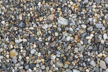 Hintergrund mit Kieselsteinen