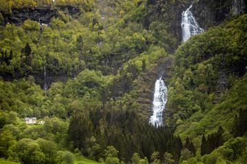 Wasserfall  Wald