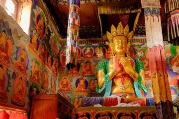 Future buddha or Maitreya Buddha 28th at Samtanling Monastery(15