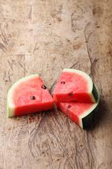 fresh watermelon on wooden background