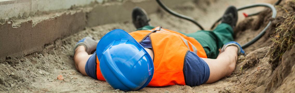 Construction site as dangerous area