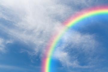 Sky and rainbow.