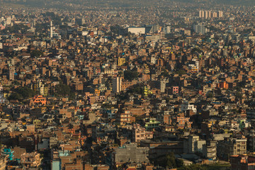 Kathmandu city view from Swayambhunath Temple