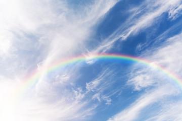 Beautiful sky with rainbow.