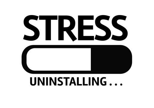 Progress Bar Uninstalling with the text: Stress